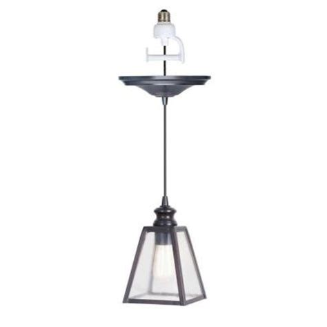 Home Depot Pendant Light Kit Home Decorators Collection 1 Light Antique Bronze Pendant Light Conversion Kit 0845300280