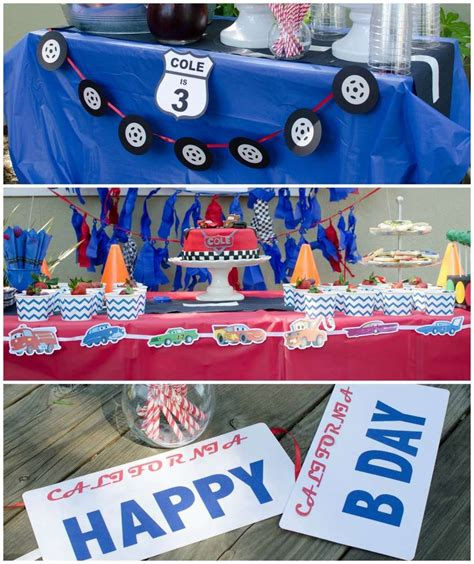 cars themed birthday decorations cars lightning mcqueen birthday party ideas cars