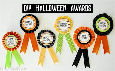 Costume Contest Awards Printable