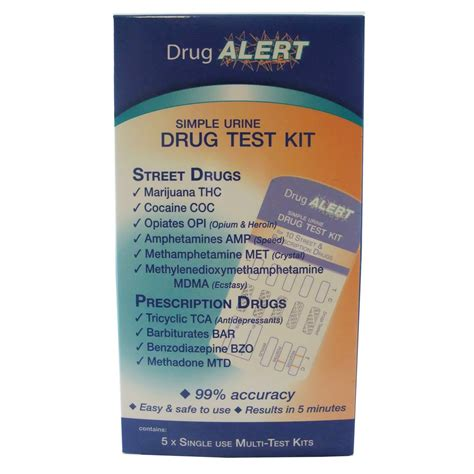 Fast Marijuana Detox Kit Australia by Alert Multi Test Kit X 5 Single Use Tests