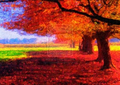 fall landscape fall landscape by kdspenart on deviantart
