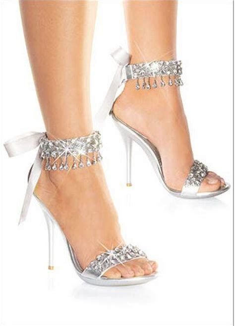 Silver Bridal Shoes by New Fashion Wedding Shoes Silver Rhinestone High Heels