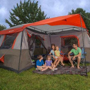 Ozark 16 X 16 Cabin Tent by Ozark Trail 12 Person 3 Room L Shaped Instant Cabin Tent