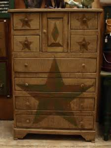 primitive bedroom furniture amish primitive chest of drawers stars chest of drawers