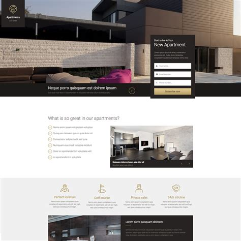 Real Estate Landing Page Free Responsive Website Template Real Estate Responsive Website Templates Free