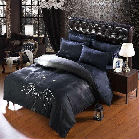 Luxury Black Bedding Sets Aliexpress Buy 6 Pcs Set Luxury 3d Bedroom Duvet Sets Black Leopard Print Bedding Sets
