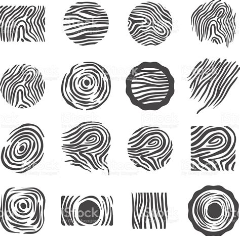 texture for logo wood texture logo icon illustration symbol set stock