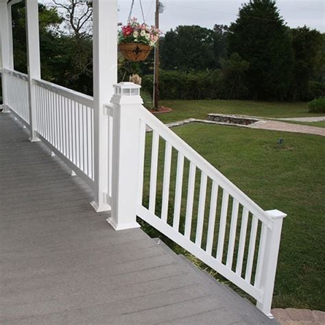 deck railing sections vinyl deck railing parts tips safety for vinyl stair