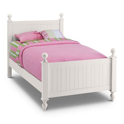 kid bed frames colorworks white bed value city furniture