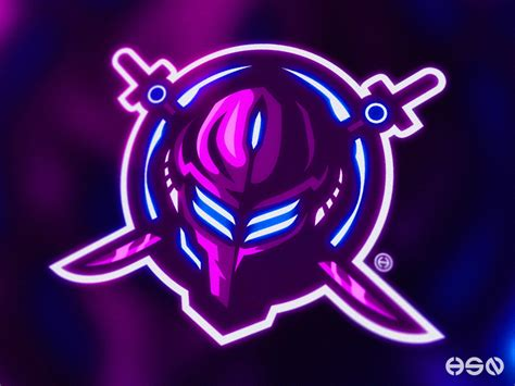 xeno cyber ninjaswordsman mascot logo  hssn dsgn