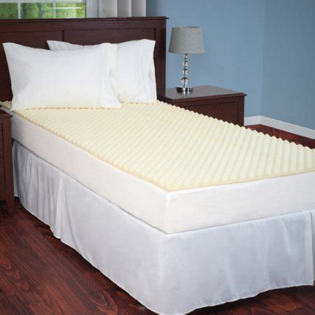 Egg Crate Mattress Cover by Everyday Home Mattress Topper Egg Crate Ventilated Foam Walmart