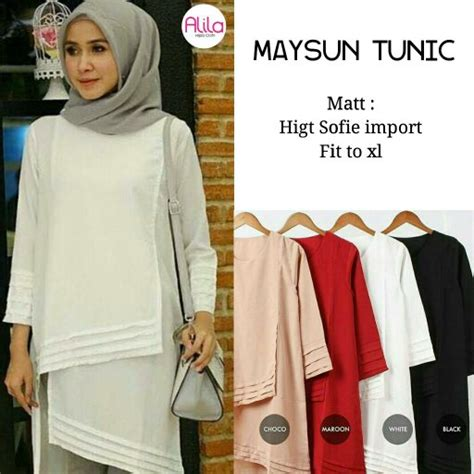 Sabtina Blouse Baju Atasan Wanita By Alila jual maysun tunik by alila di lapak fldcollection fldcollection