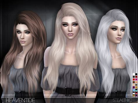 download hair female the sims 3 sims 4 hairs stealthic heaventide hairstyle