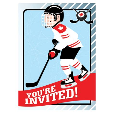 hockey birthday card template hockey invitation printable today s parent