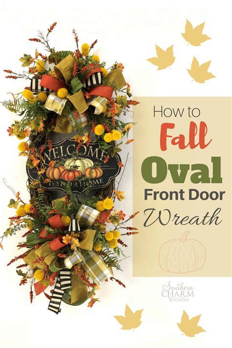 fall oval front door wreath wreaths