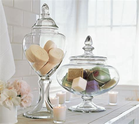 bathroom canisters glass haus design apothecary jars