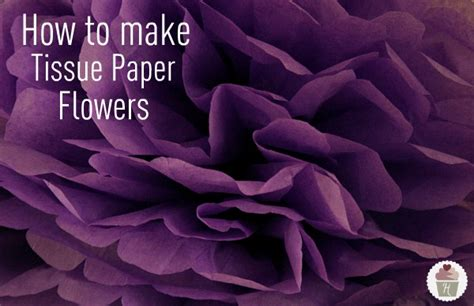 How To Make Paper Tissue Flowers - view archive