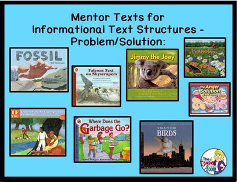 problem solution picture books mentor texts for informational text structures problem
