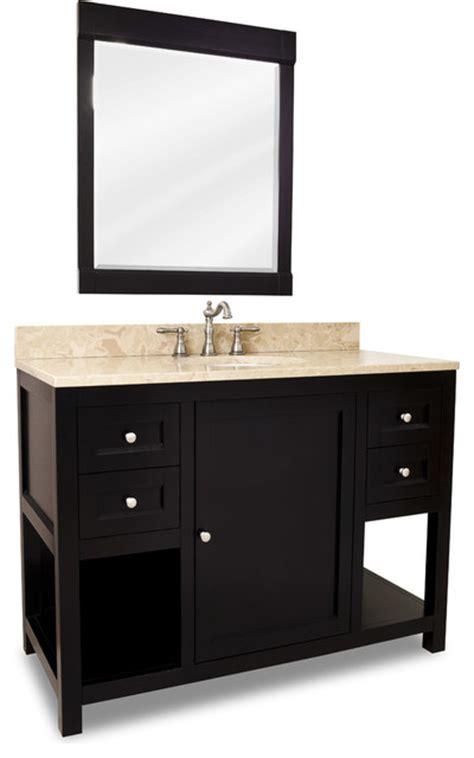 Black Distressed Bathroom Vanity Distressed Shaker Vanity Set Black Extended Drawer Transitional Bathroom Vanities And Sink