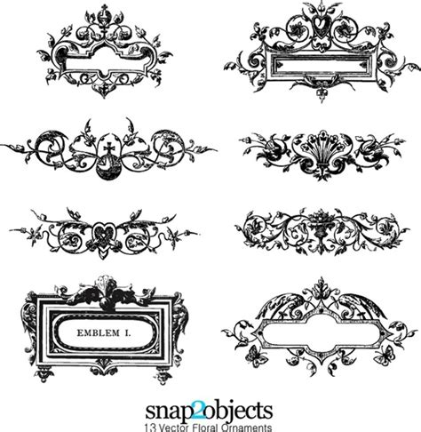 Kaos Lailahaillallah free vector floral ornaments pack 03 free vector in