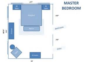 Here is the layout planned for the master bedroom