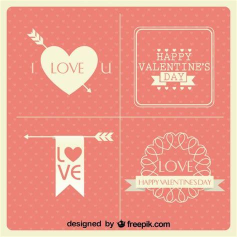 Design Vorlagen Karten Valentinstag Karten Vintage Minimalistischen Design