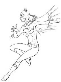 printable color sheets free printable batgirl coloring pages for