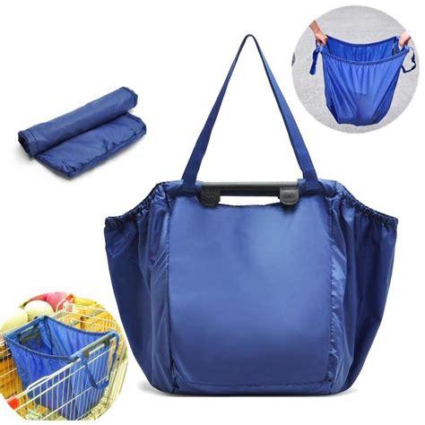 Shop Bag Lipat 071 Tas Belanja Lipat Trolley Shopping Bag Blue