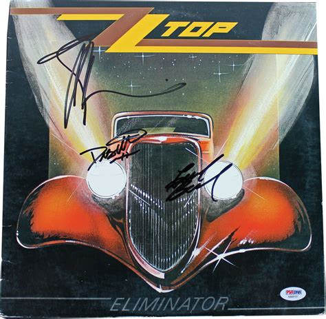 lot detail zz top billy gibbons signed quot lot detail zz top signed quot eliminator quot record album