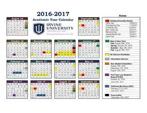 2016 And 2017 Academic Calendar Irvine Academic Calendar For Irvine College Of