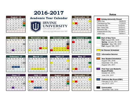Academic Calendars Image Gallery 2016 2017 Academic Planner
