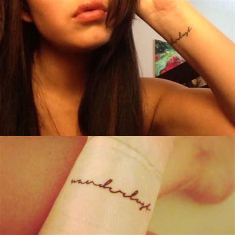 wrist tattoo placement quot wanderlust quot wrist placement