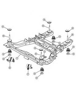 Chrysler Pacifica 2005 Parts 2005 Chrysler Pacifica Cradle Suspension Front