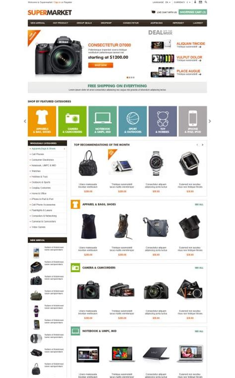 Opencart Supermarket Theme Boss Themes Opencart Templates Free