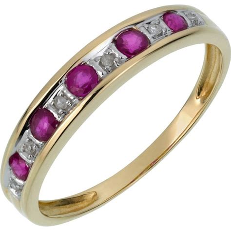 7 Beautiful Eternity Rings by Buy 9ct Gold Ruby And Half Eternity Ring At Argos