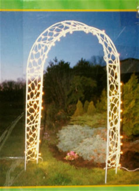 Garden Arch With Lights Rebeldelta Lighted Garden Arch Including 200 Clear Net