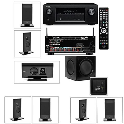 klipsch gallery g 12 7 1 home theater system sw 310 denon