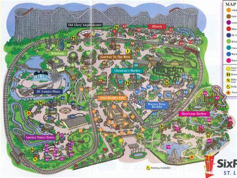 Animal Roller Date St theme park brochures six flags st louis theme park