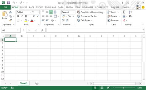 layout excel 2013 new interface excel 2013