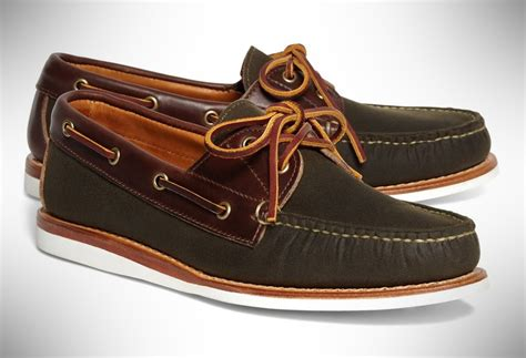rancourt co waxed canvas boat shoes that are business