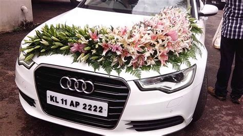 Wedding Car Decoration With Flowers   YouTube