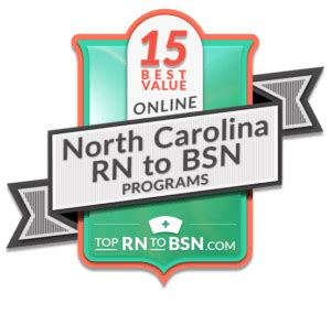 Bsn Programs In Nc by Best Rn To Bsn In Carolina Top Rn To Bsn