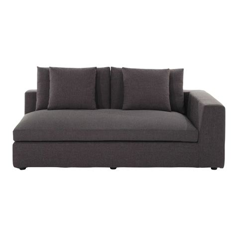 heather grey sofa fabric right sofa arm unit in heather grey edgard