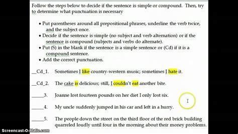 sentence template complex sentence exles images