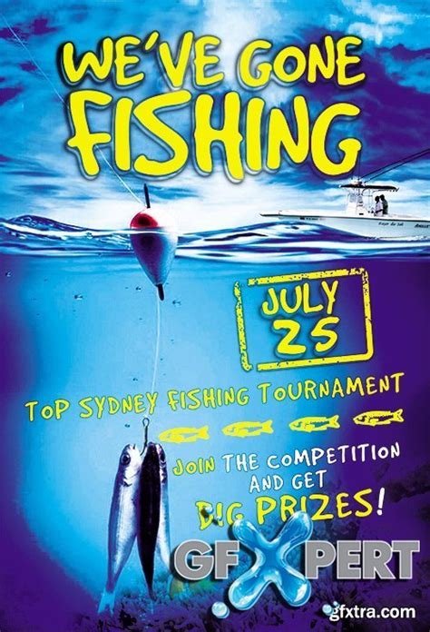 free fishing contest flyer psd template facebook cover