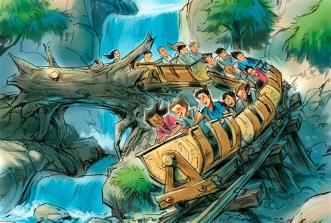 in ride concept 1958 fantasyland disney new fantasyland seven dwarfs mine concept