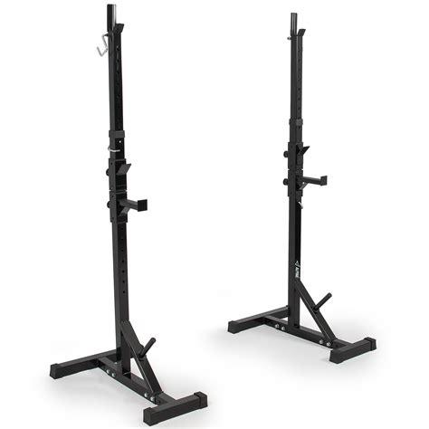 bench press stands 2x adjustable rack stand standard steel squat barbell