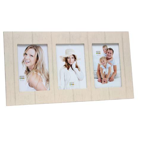 cadre photo multivues en bois cru pour 3 10x15 deknudt