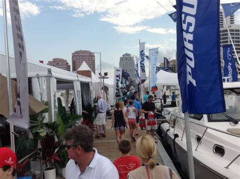 palm beach boat show attendance palm beach show reports attendance boost trade only today