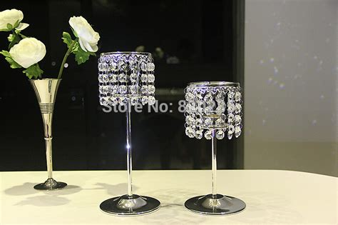 Metal Candle Holders Centerpieces Metal Silver Finish Candle Holder Wedding Candle